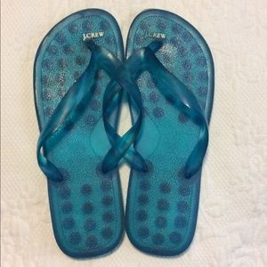 JCrew Blue Jelly Flip Flops